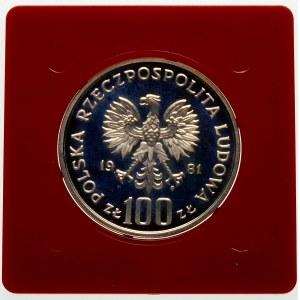 Próba 100 złotych 1981 Władysław Sikorski - srebro
