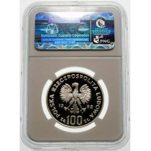Próba 100 złotych 1982 Bociany - srebro