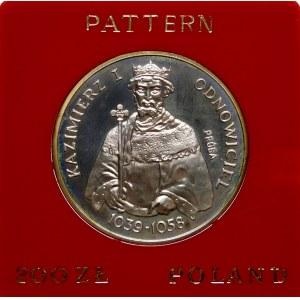 Próba 200 złotych 1980 Odnowiciel - srebro