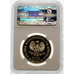 Próba 200 złotych 1980 Lake Placid - srebro