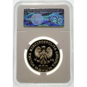 Próba 200 złotych 1982 MŚ w Piłce - srebro