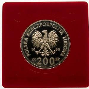 Próba 200 złotych 1985 Szpital Matki Polski - żelazonikiel