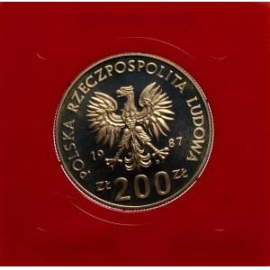 Próba 200 złotych 1987 ME w Piłce Nożnej - miedzionikiel