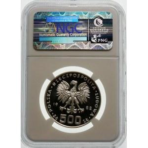 Próba 500 złotych 1982 Dar Młodzieży - srebro