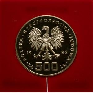 Próba 500 złotych 1983 Igrzyska Sarajewo - srebro
