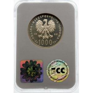 Próba 1000 złotych 1984 Łabędź - srebro