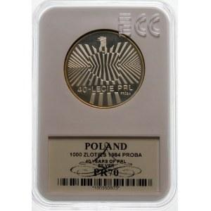 Próba 1000 złotych 1984 PRL - srebro