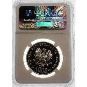 Próba 1000 złotych 1985 Przemysław II - srebro