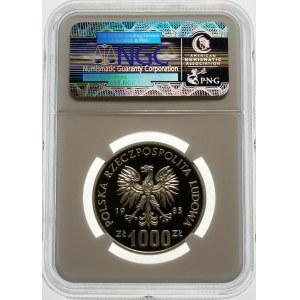 Próba 1000 złotych 1985 ONZ - srebro