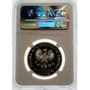 Próba 1000 złotych 1986 Sowa - srebro