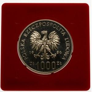 Próba 1000 złotych 1986 Centrum Zdrowia - srebro
