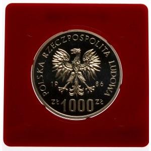 Próba 1000 złotych 1986 Czyn Pomocy Szkole - srebro