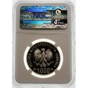 Próba 1000 złotych 1987 Kazimierz III Wielki - srebro