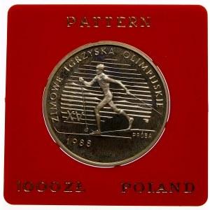 Próba 1000 złotych 1987 Zimowe Igrzyska Olimpijskie - srebro