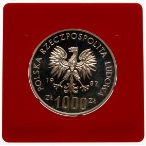 Próba 1000 złotych 1987 Muzeum Śląskie - srebro