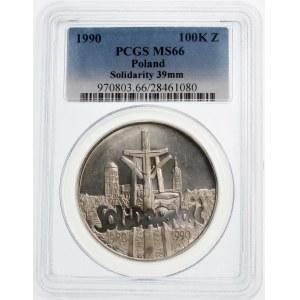 100000 złotych 1990 Solidarnosć TYP A - srebro