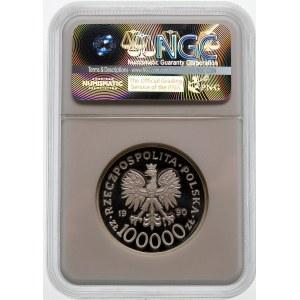 100000 złotych 1990 Solidarność - Gruba, 32 mm - srebro