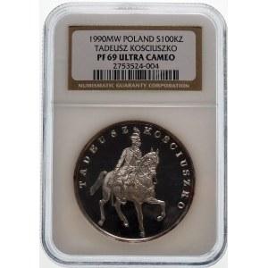 100000 złotych 1990 Kościuszko Mały Tryptyk - srebro
