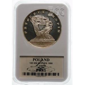 100000 złotych 1990 Chopin Mały Tryptyk - srebro