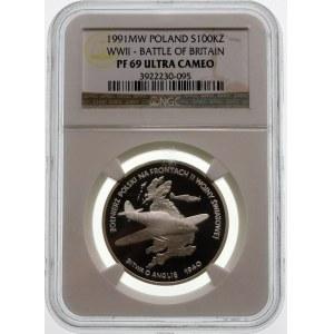 100000 złotych 1991 Bitwa o Anglię - srebro