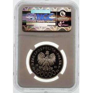 100000 złotych 1991 Hubal - srebro