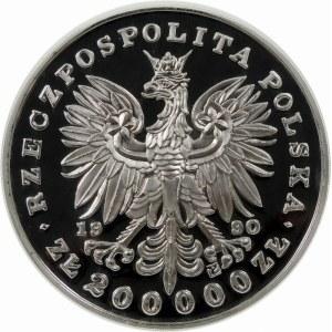 200000 złotych 1990 Piłsudski Duży Tryptyk - srebro
