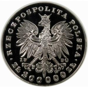 200000 złotych 1990 Chopin Duży Tryptyk - srebro