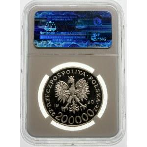 200000 złotych 1990 Tadeusz Komorowski - srebro