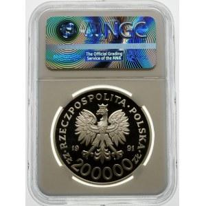 200000 złotych 1991 Zimowe Igrzyska Olimpijskie - srebro