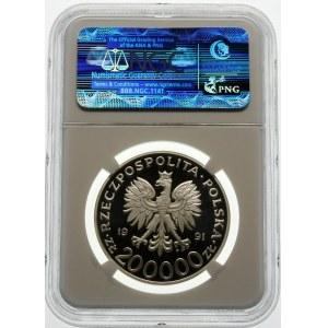 200000 złotych 1991 Targi Poznańskie - srebro