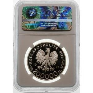 200000 złotych 1991 Leopold Okulicki - srebro
