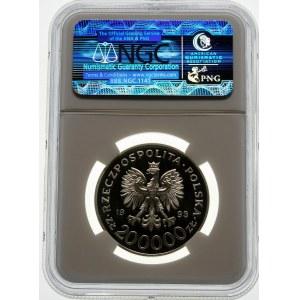 200000 złotych 1993 Szczecin - srebro