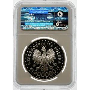 300000 złotych 1993 Lillehammer - srebro