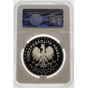 300000 złotych 1994 Maksymilian Kolbe - srebro