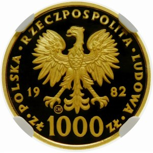1000 złotych 1982 Jan Paweł II - złoto