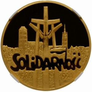 200000 złotych 1990 Solidarność 39mm - złoto