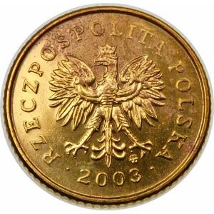 Destrukt 1 grosz 2003 Odwrotka 180 st.