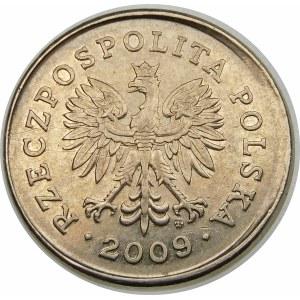Destrukt 1 złoty 2009 przesunięcie stempla