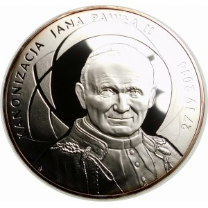 500 złotych 2014 Kanonizacja Jana Pawła II - srebro 1 KILO