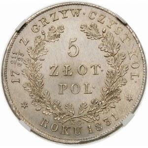 Powstanie Listopadowe, 5 złotych 1831 – zjawiskowa