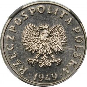 Próba 5 groszy 1949 - nikiel