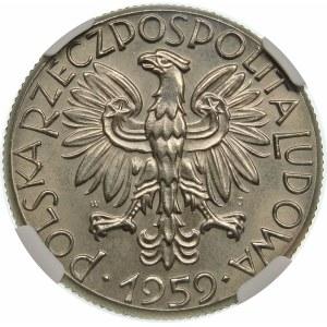 Próba 5 złotych 1959 młot i kielnia - nikiel