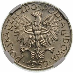 Próba 5 złotych 1959 symbole gospodarki - nikiel