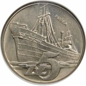 Próba 5 złotych 1960 Waryński - nikiel