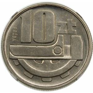 Próba 10 złotych 1960 klucz i koło zębate - nikiel