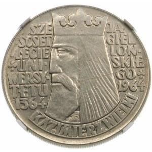 Próba 10 złotych 1964 Kazimierz Wielki - nikiel