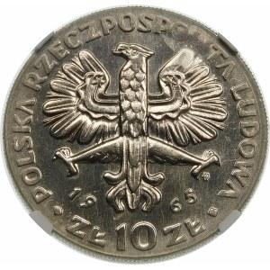 Próba 10 złotych 1965 VII Wieków Warszawy - nikiel