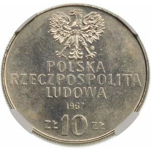 Próba 10 złotych 1967 Świerczewski - nikiel
