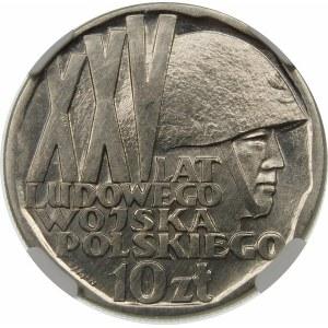 Próba 10 złotych 1968 XXV lat LWP - nikiel