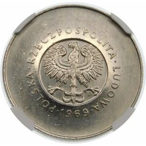 Próba 10 złotych 1969 25 rocznica PRL - nikiel